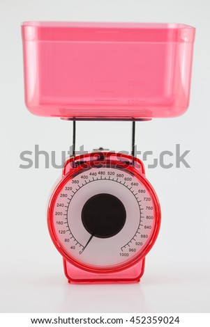 Scales fruit pink - stock photo