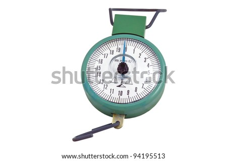 scales isolated on a white background - stock photo