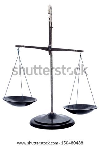 Scales isolated on white background - stock photo