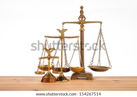 scales of justice isolated