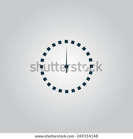 Scales screen circle. Flat web icon, sign or button isolated on grey background. Collection modern trend concept design style illustration symbol - stock photo