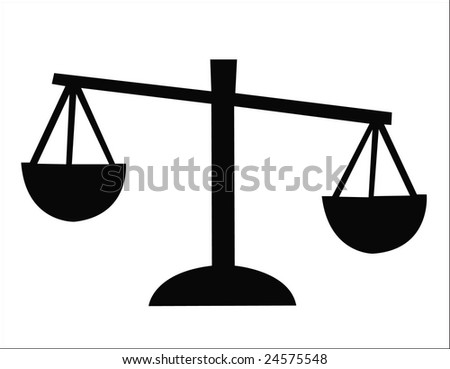 scales silhouette - stock photo