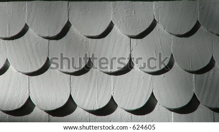 Scalloped Clapboard - stock photo