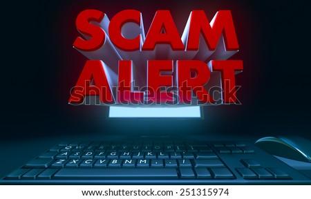 Scam alert - stock photo