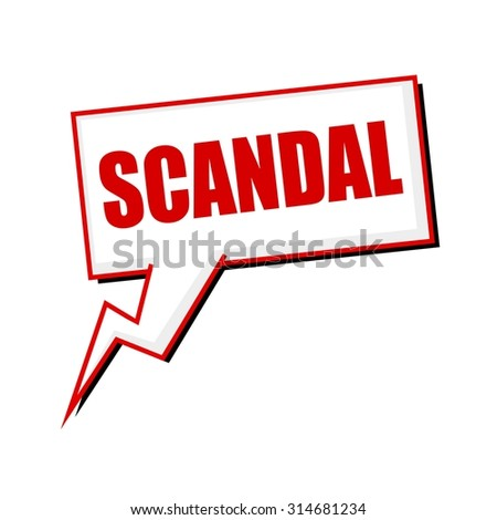 scandal red stamp text on white Speech bubbles