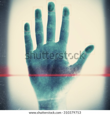 Scanning fingerprints on light background