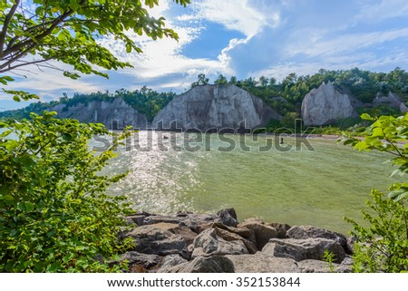 Scarborough Bluffs Lake view in Toronto, Canada - stock photo