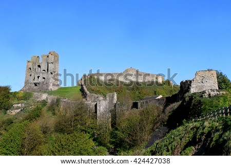 Scarborough Castle Norman Keep, North Yorkshire, England. - stock photo