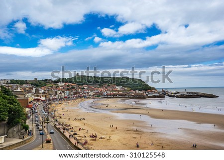Scarborough on the north east coast of Yorkshire - stock photo