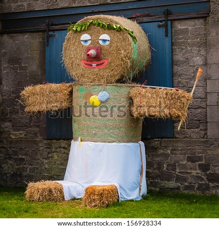 Scarecrow at a summer fair - stock photo