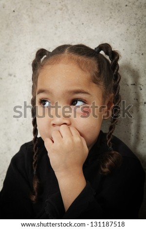Scared child - stock photo