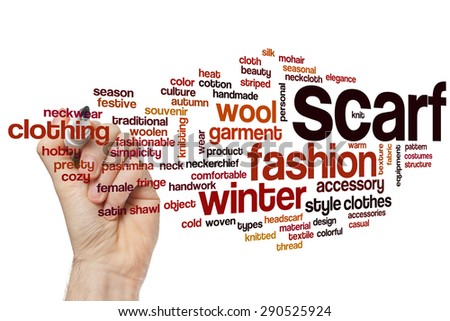 Scarf word cloud concept - stock photo