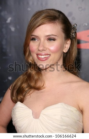Scarlett Johansson   at the Los Angeles Premiere of 'The Spirit'. Grauman's Chinese Theatre, Hollywood, CA. 12-17-08 - stock photo