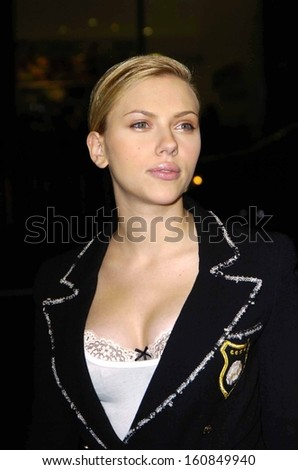 Scarlett Johansson at the premiere of IN GOOD COMPANY at Grauman's Chinese Theatre, Los Angeles, CA, December 6, 2004 - stock photo