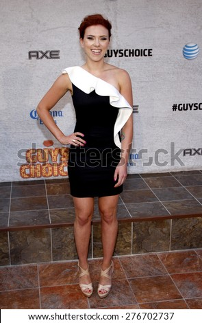 Scarlett Johansson at the 2011 Spike TV's Guys Choice Awards held at the Sony Studios in Culver City on June 4, 2011.