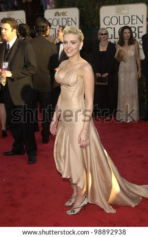 SCARLETT JOHANSSON at the 61st Annual Golden Globe Awards at the Beverly Hilton Hotel, Beverly Hills, CA. January 25, 2004 - stock photo
