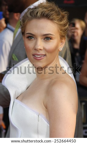 """Scarlett Johansson at the World Premiere of """"Iron Man 2"""" held at the El Capitan Theater in Hollywood, California, United States on April 26, 2010.  - stock photo"""