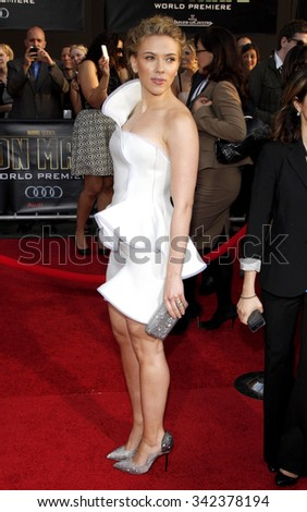 "Scarlett Johansson at the World Premiere of ""Iron Man 2"" held at the El Capitan Theater in Hollywood, California, United States on April 26, 2010."