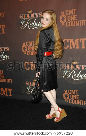 SCARLETT POMERS at the first CMT Giants concert honoring country star Reba McEntire, at the Kodak Theatre, Hollywood. October 26, 2006  Los Angeles, CA Picture: Paul Smith / Featureflash