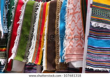 Scarves in Lalibela, Ethiopia - stock photo