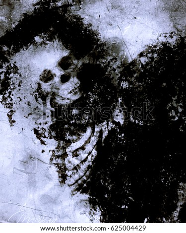 Scary Halloween Wallpaper With Spooky Skull Horror Background For Your Projects