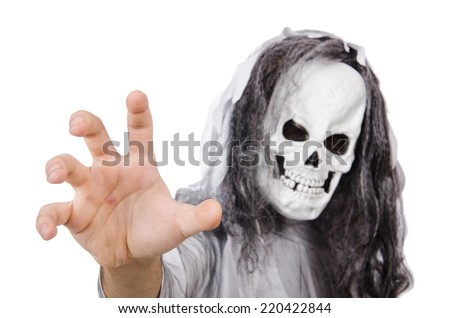 Scary man in halloween concept - stock photo