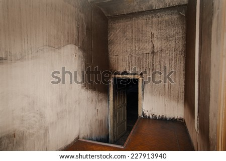 Scary room with white walls - stock photo
