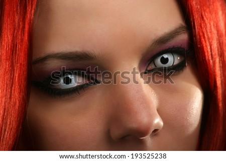 Scary vampire girl - stock photo