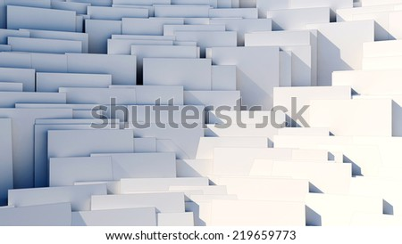 scattered 3d white cubes - 8k abstract background
