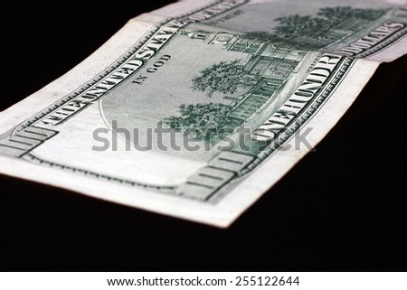 scattered dollars - stock photo