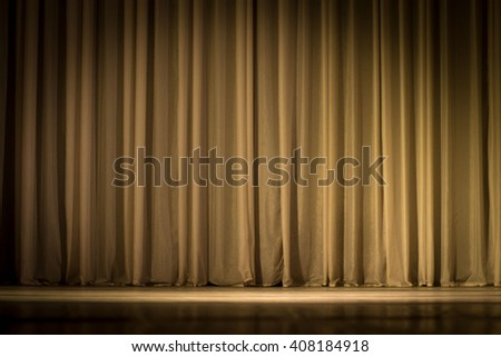 scene, a curtain theater - stock photo
