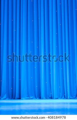 scene, a curtain theater - stock photo