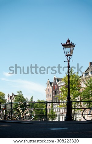 Scene from Amsterdam,  in The Netherlands  - stock photo