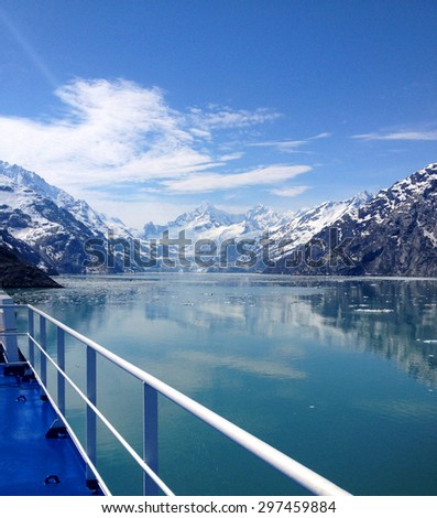 Scene from Glacier Bay, Alaska - stock photo