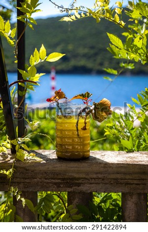 Scene in Bigova village.Montenegro. - stock photo