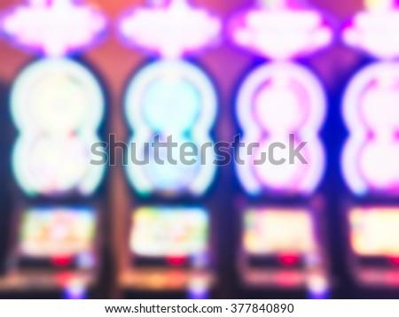 scene of bet machine in casino.  -blurred. - stock photo