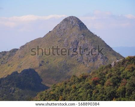 "Scene of ""Chaing Dao"" mountain, Thailand - stock photo"
