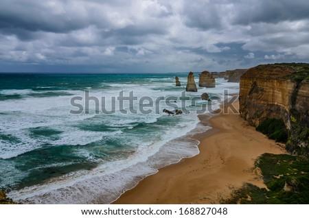 Scene of Great Ocean Road - Australia - stock photo