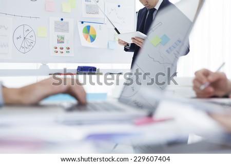 Scene of office - stock photo