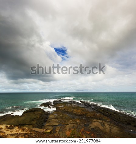 Scene of the beach in the afternoon  - stock photo
