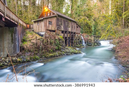 Grist mill stock images royalty free images vectors for The cedar mill