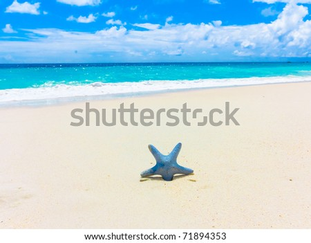 Scene Sand Surf - stock photo