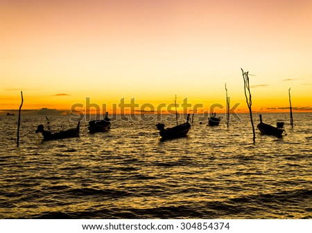 Scene under the Setting Sun Hideaway Scene  - stock photo
