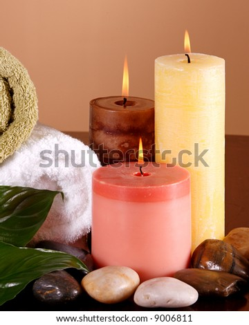 Scene with a spa feeling - stock photo