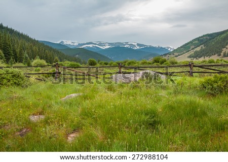 Scenery along the Guanella Pass Road in Colorado. This scene is south of the pass. - stock photo