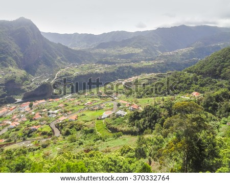scenery at a portuguese Island named Madeira