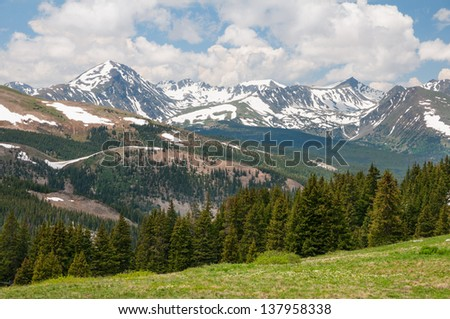 Scenery at Boreas Pass in Colorado. - stock photo