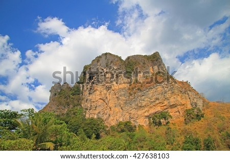scenery mountain in Krabi province of Thailand