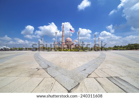 Scenery of a mosque in the afternoon  - stock photo