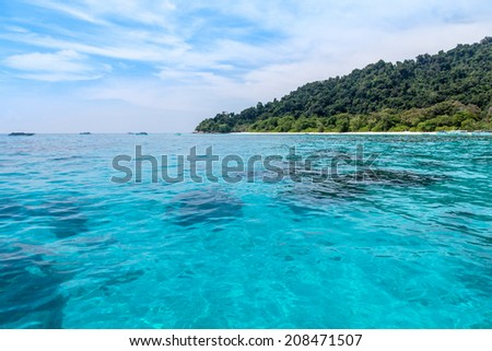 Scenery of Andaman sea, Similan island, Thailand